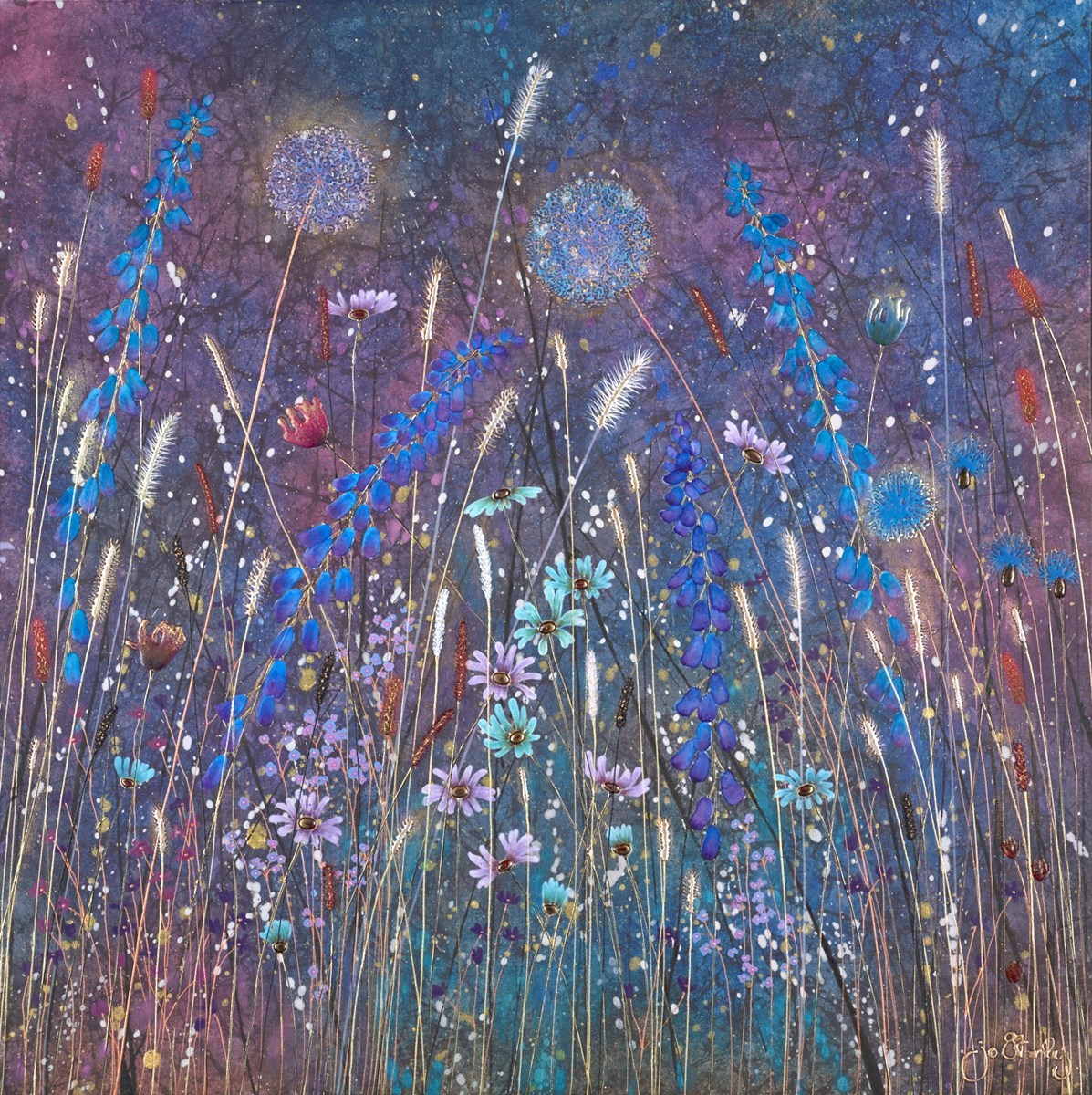 Twilight Meadow by jo starkey -  sized 28x28 inches. Available from Whitewall Galleries